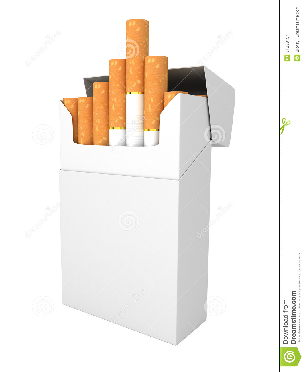 Open Full Pack Of Cigarettes Isolated Stock Images - Image: 31238154