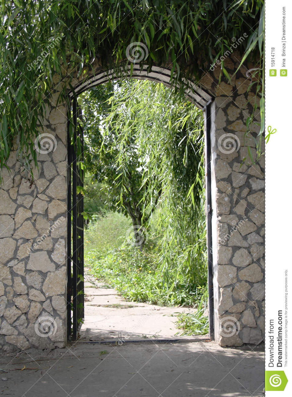 open the gate to the garden stock photo image of herbs path 15914718