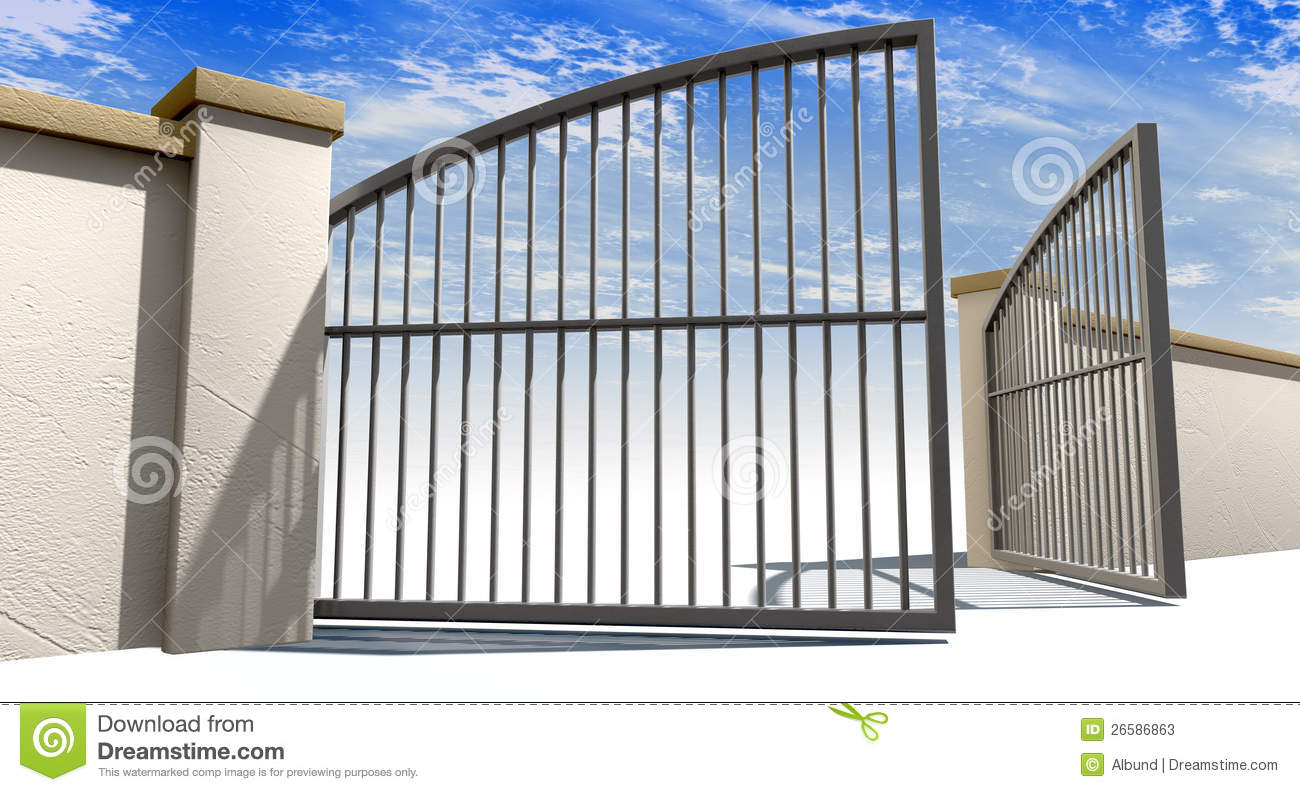 Open Gates And Wall Stock Photos Image 26586863