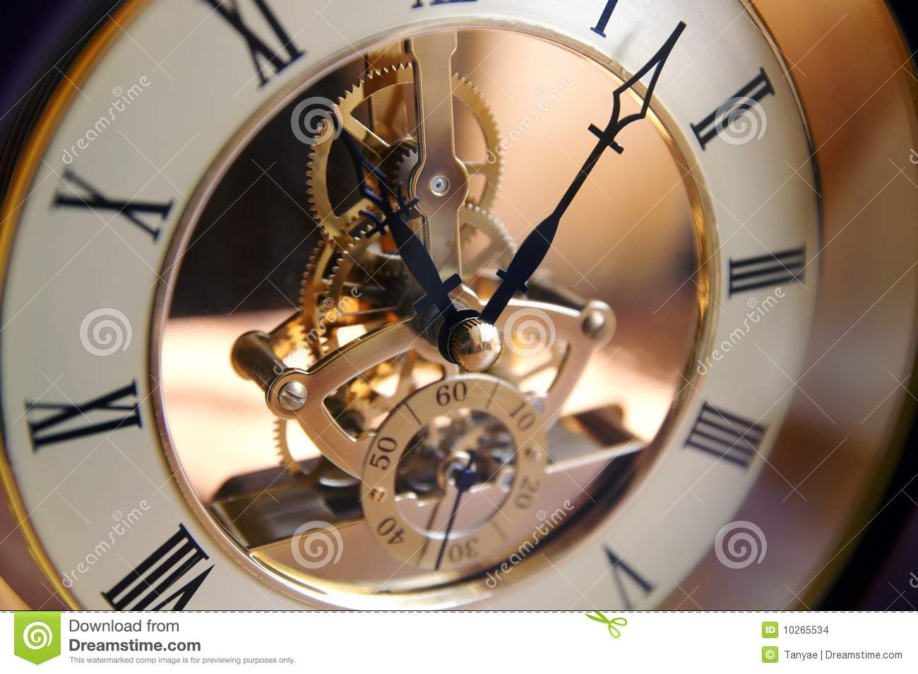 opengearing clock on a table stock images image 10265534