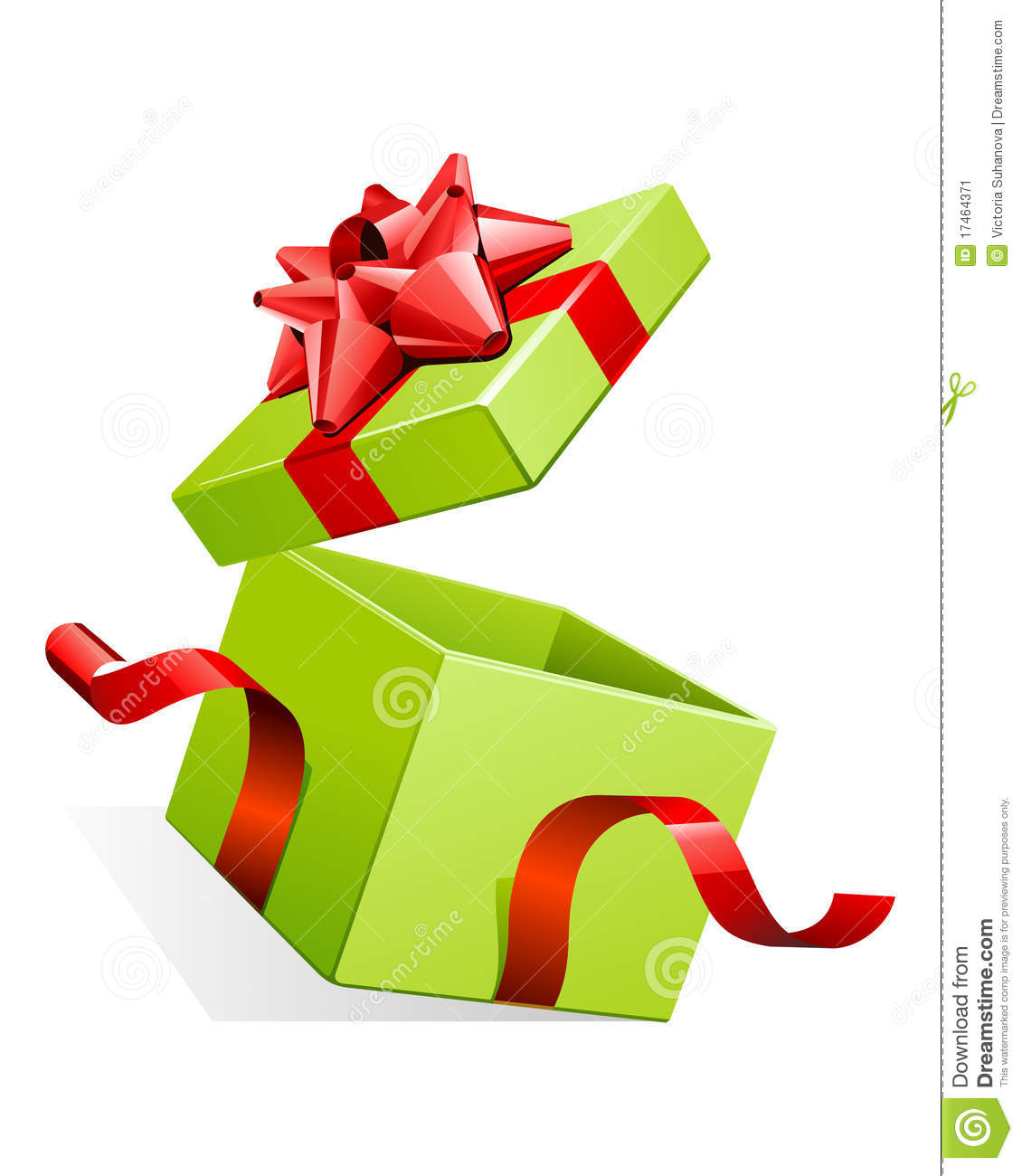Open present box clip art open gift box with bow
