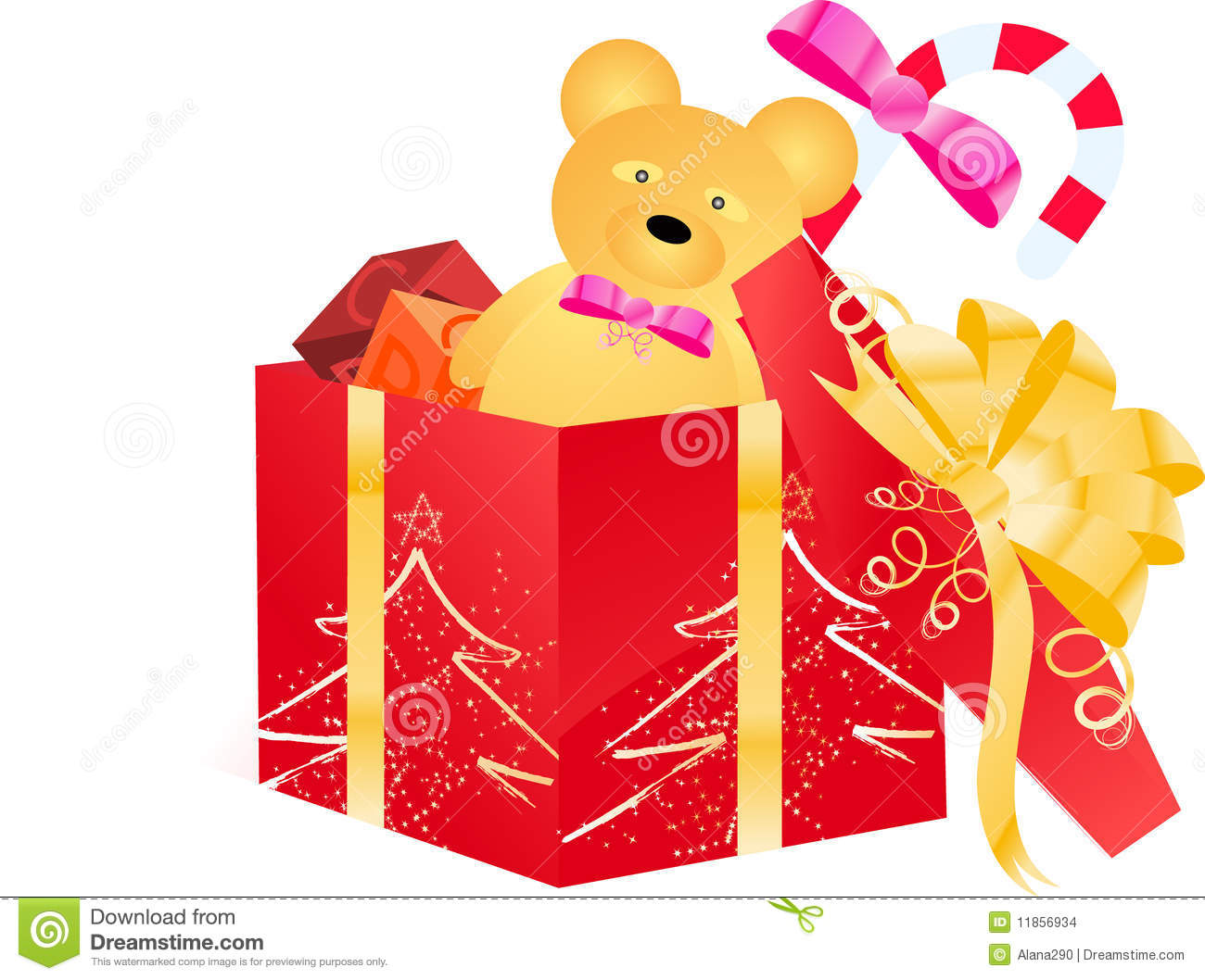 Open Gift Box With Children Toys Stock Images Image