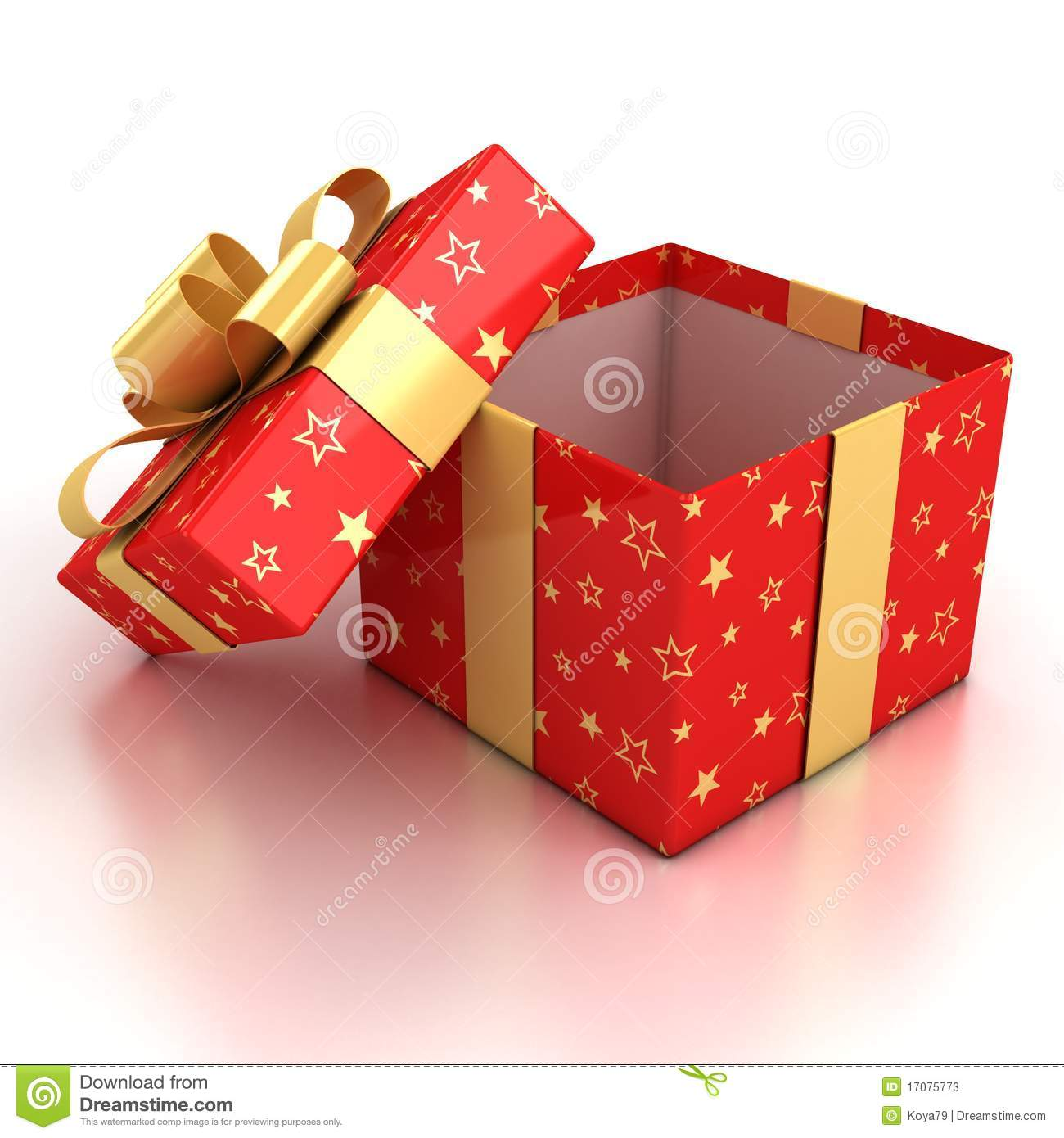Open birthday present box lektonfo open gift box over white negle Choice Image