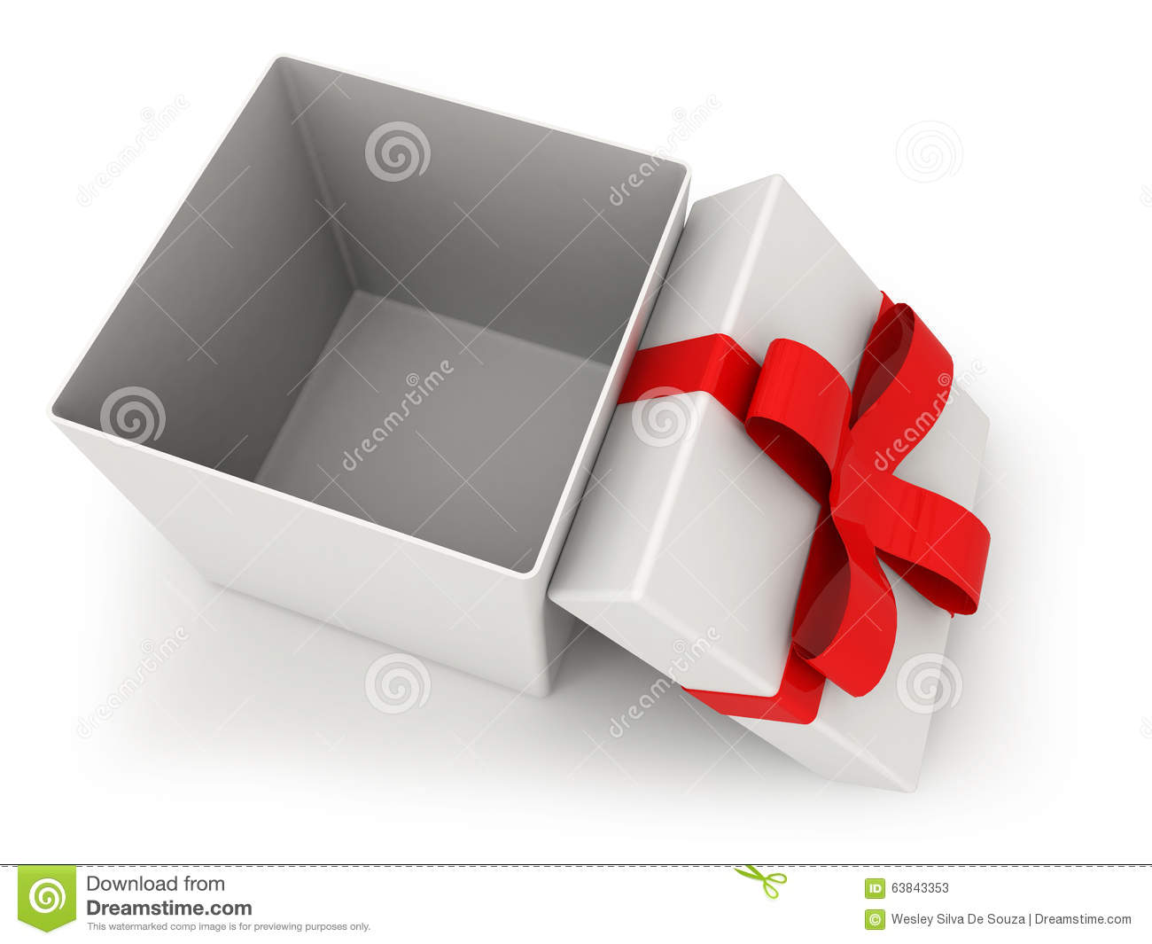 Open gift box over white background 3d illustration stock open gift box over white background 3d illustration negle Gallery