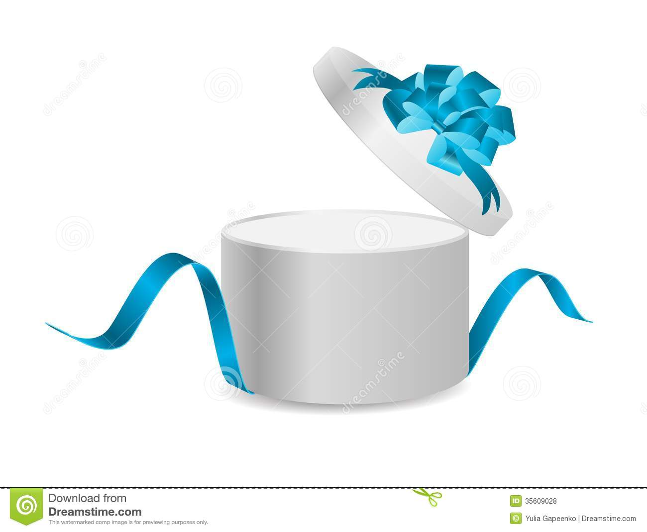 Download Open Gift Box With Ribbon And Magic Light Stock Vector