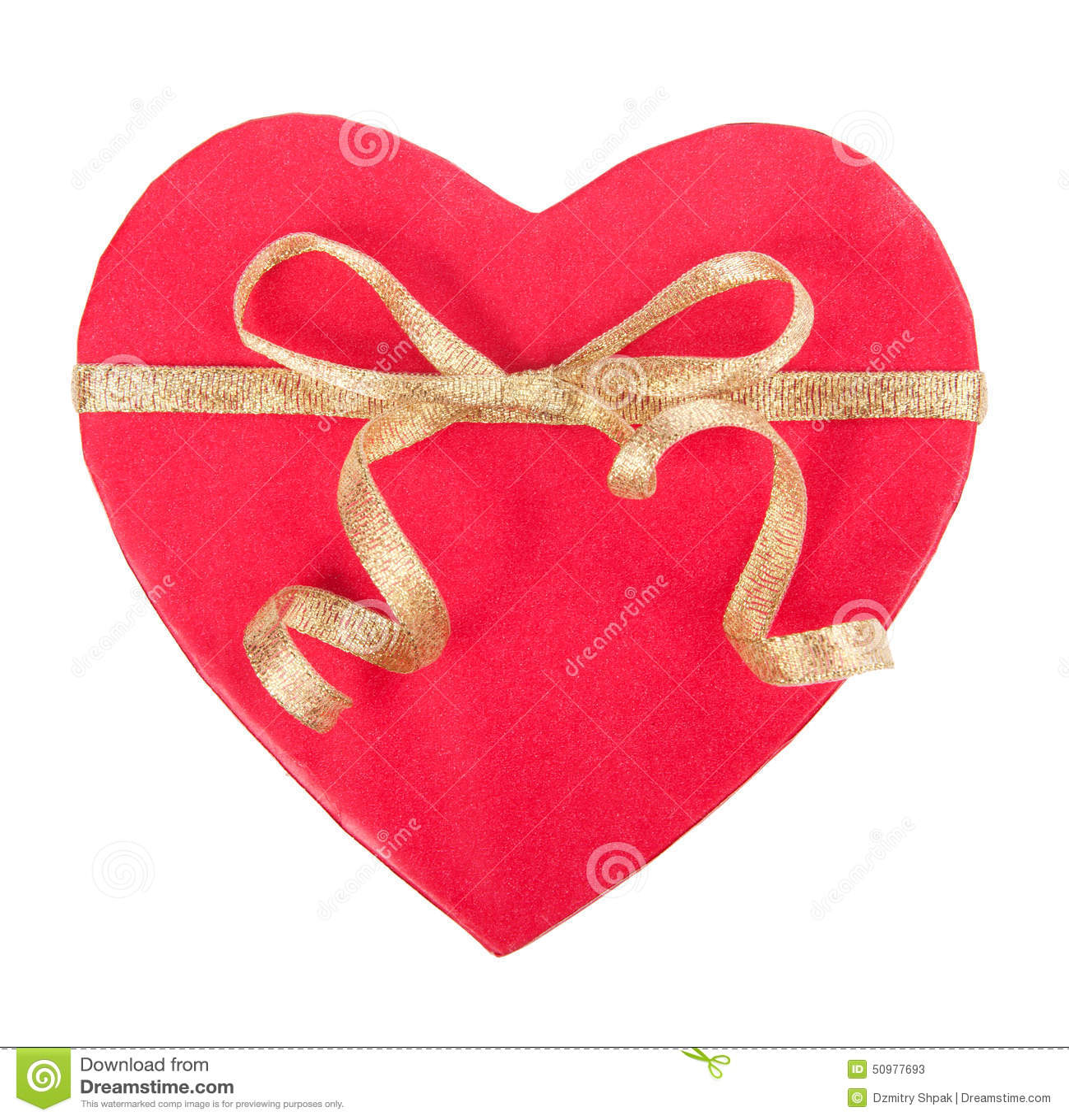 Open giftdoos in hartvorm met boog