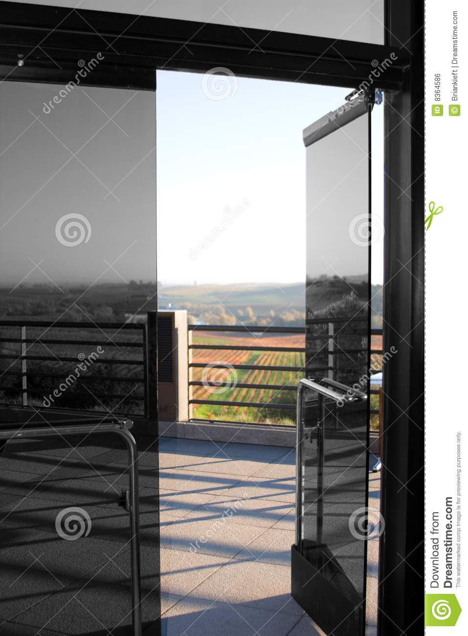 Open glass door stock photo image of tinted indoor terrace 8364586 open glass door planetlyrics Image collections