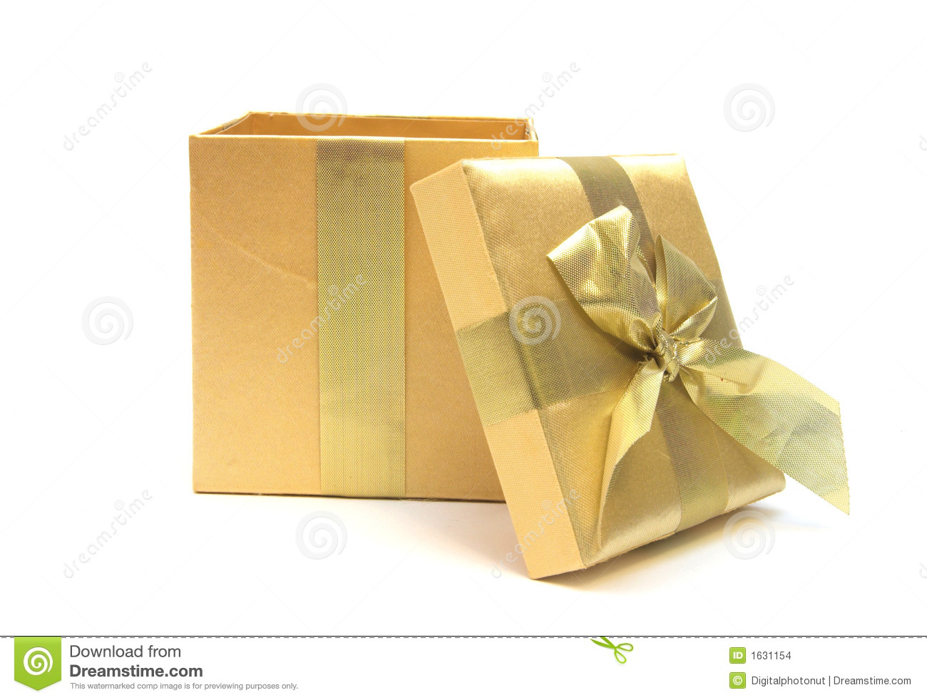 Open Gold Gift Stock Images Image 1631154
