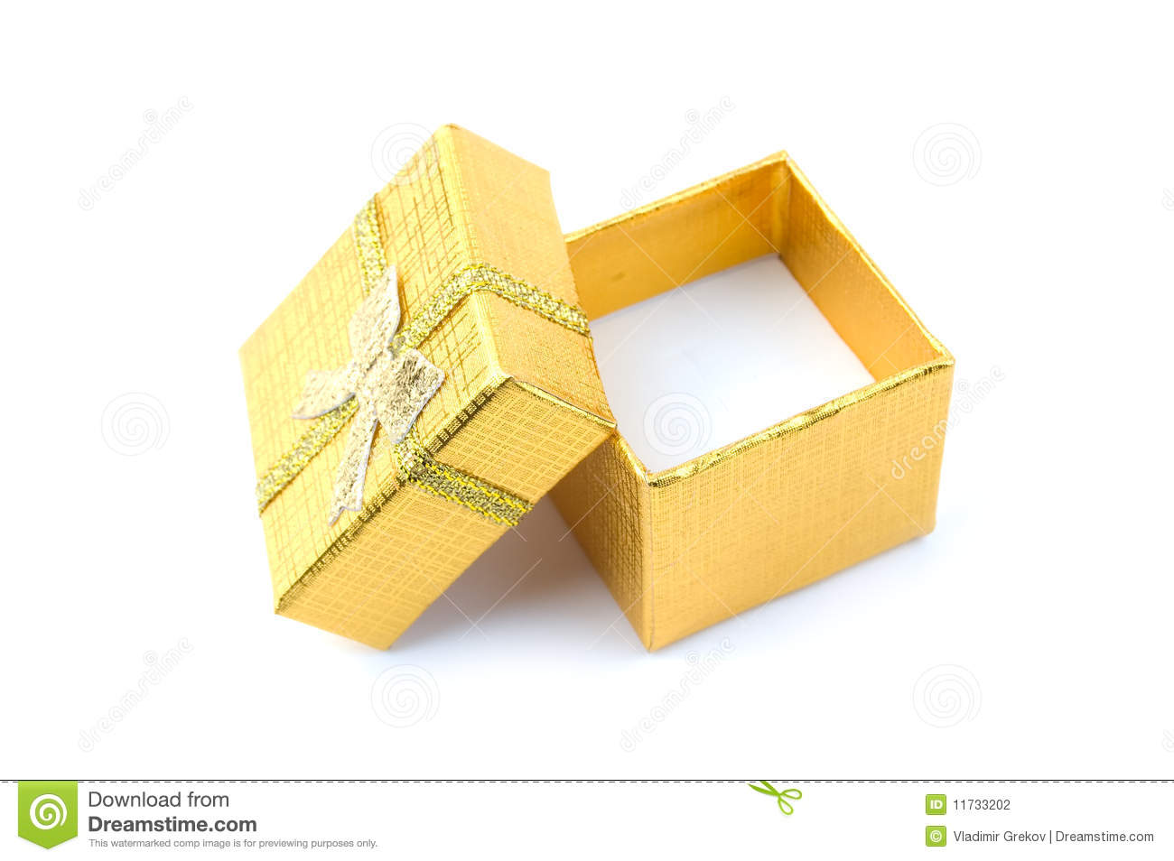 Open Golden Gift Box Stock Photography Image 11733202