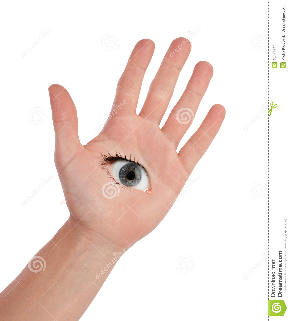 Open Hand With Eye Stock Photo Image Of Face Empty 40456312
