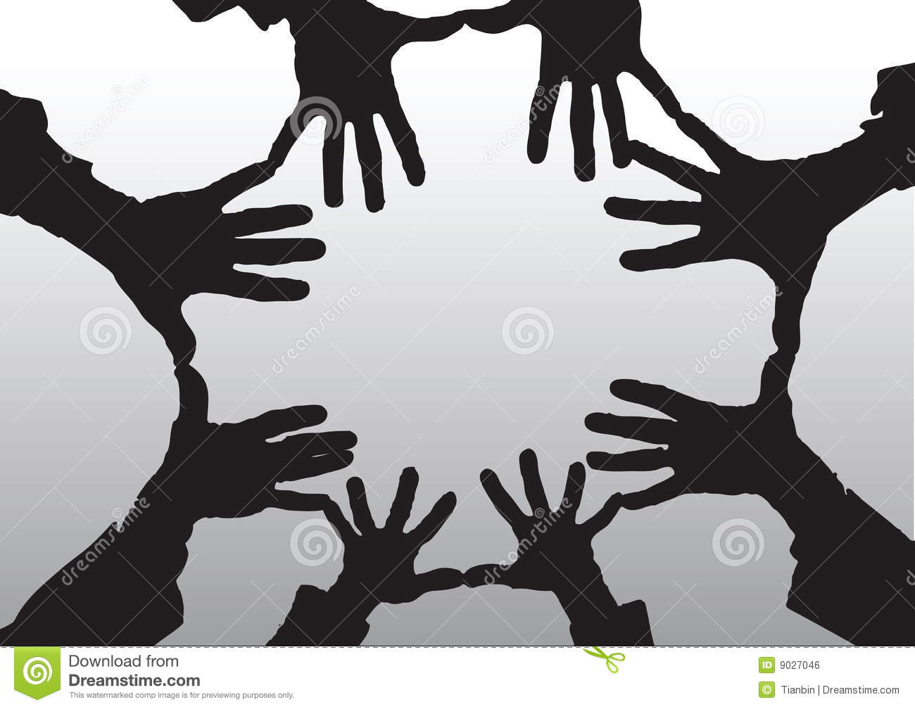 Open Hands Cartoon Silhouette Royalty Free Stock Image ...