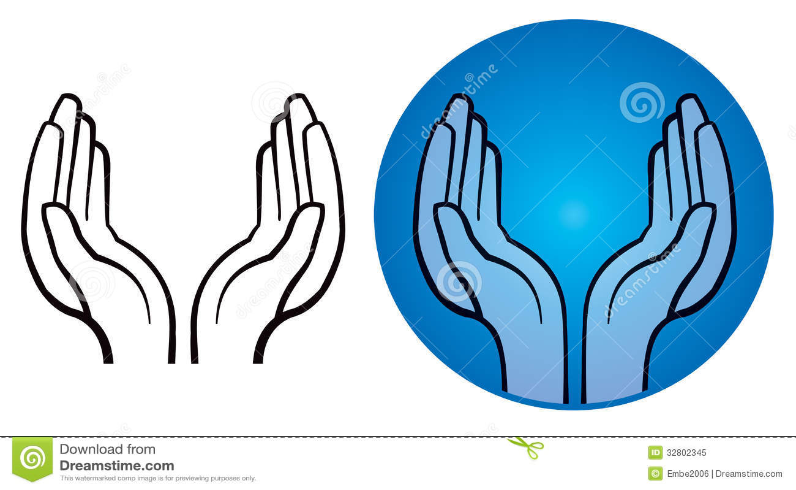 Open Hands Logo Stock Vector Illustration Of Human Finger 32802345