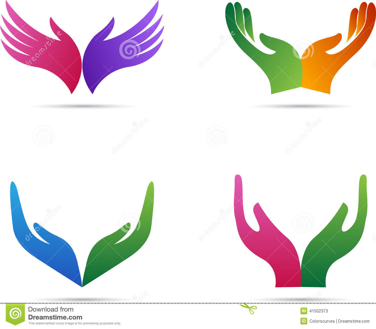 open hands stock vector image 41502373 Thoughts and Prayers Clip Art Christian Clip Art for Church Bulletins