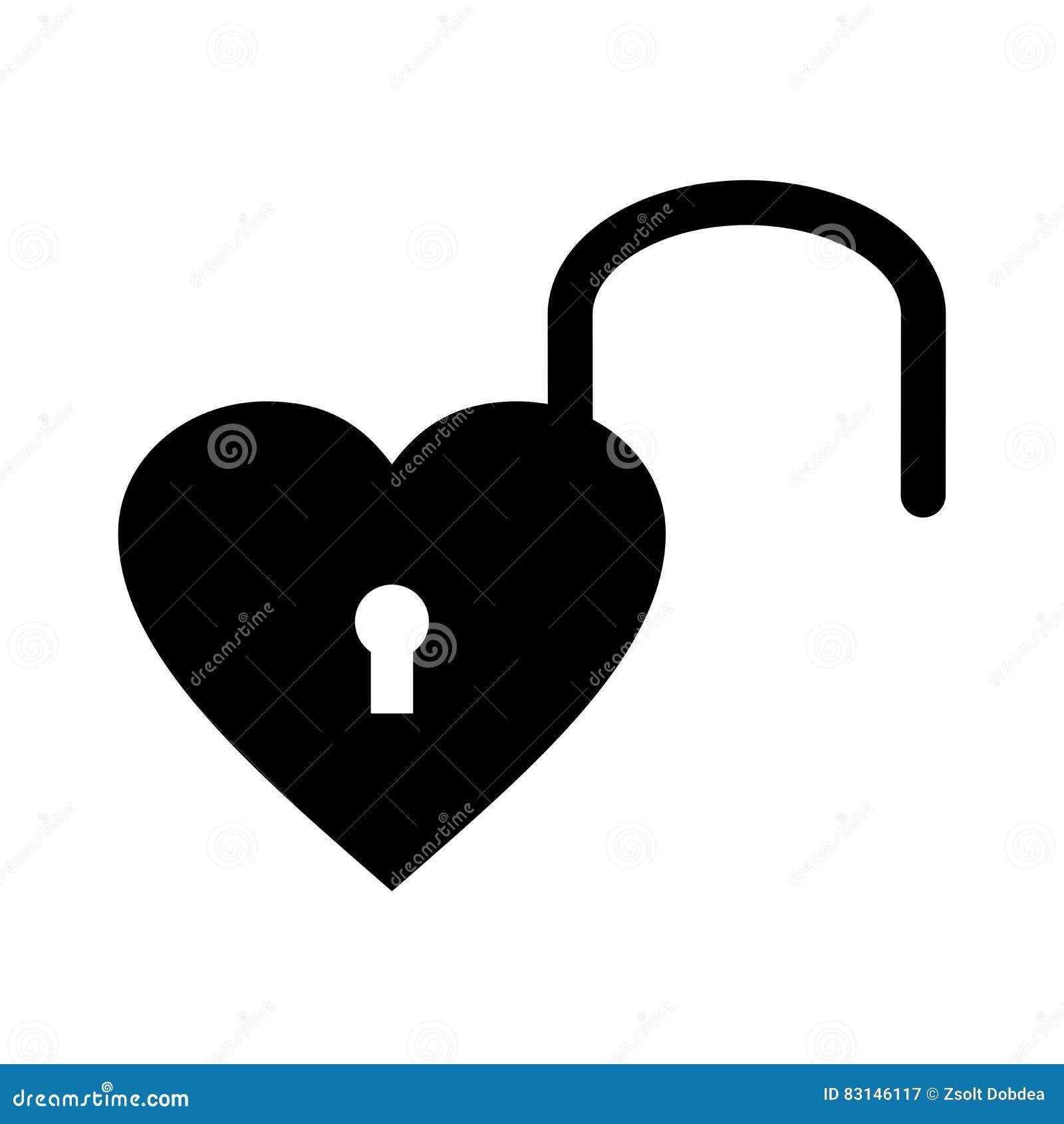 Open heart padlock vector design stock vector illustration of open heart padlock vector design buycottarizona Gallery