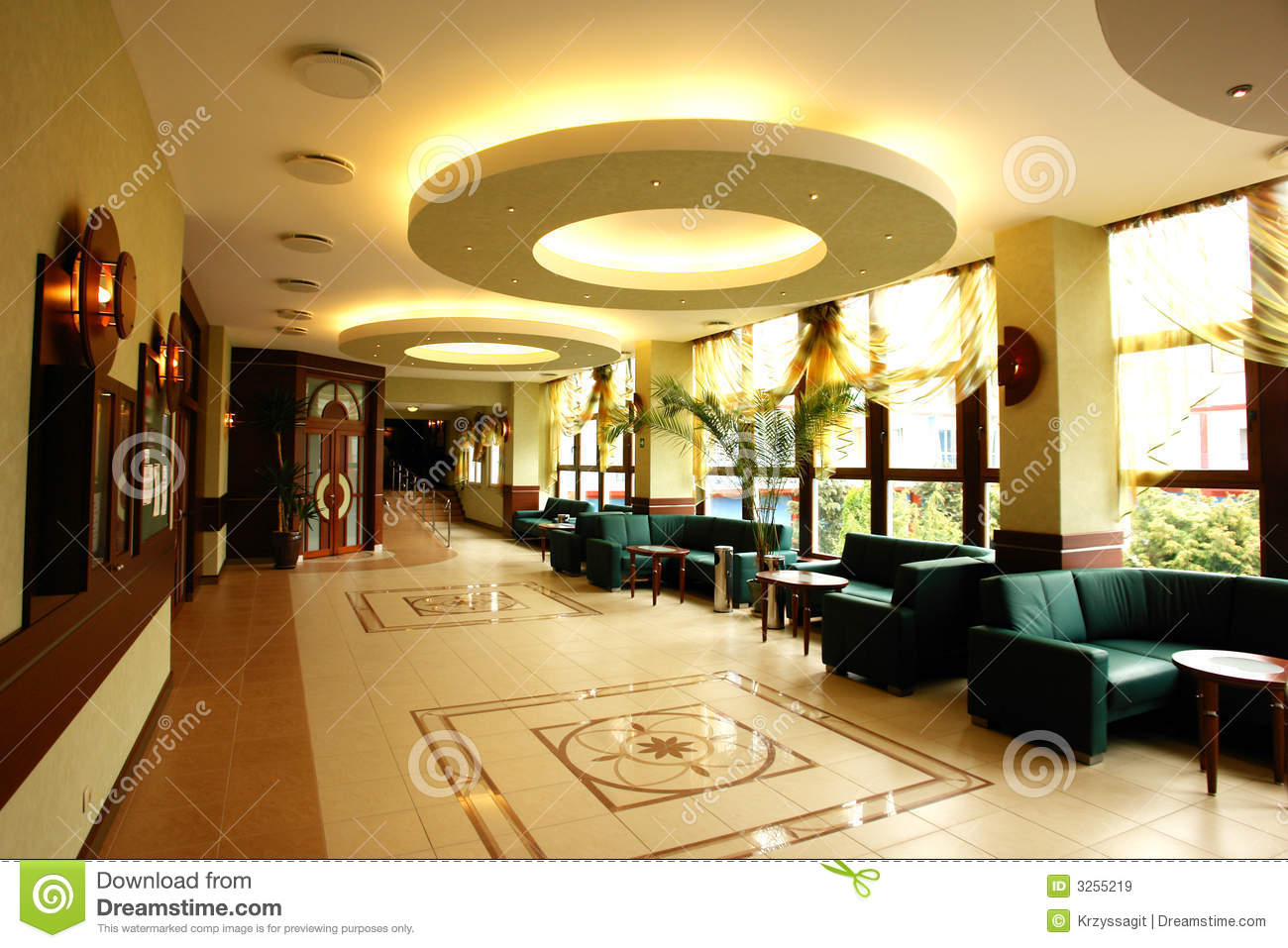 open hotel reception area royalty free stock images   image 3255219