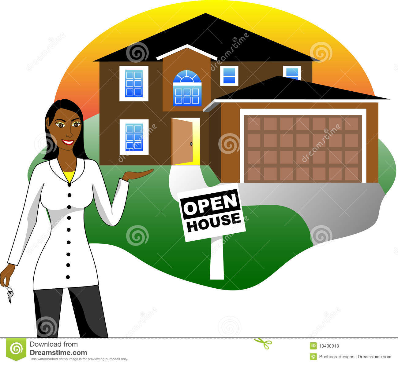 Open house with agent royalty free stock photos image for Clipart estate