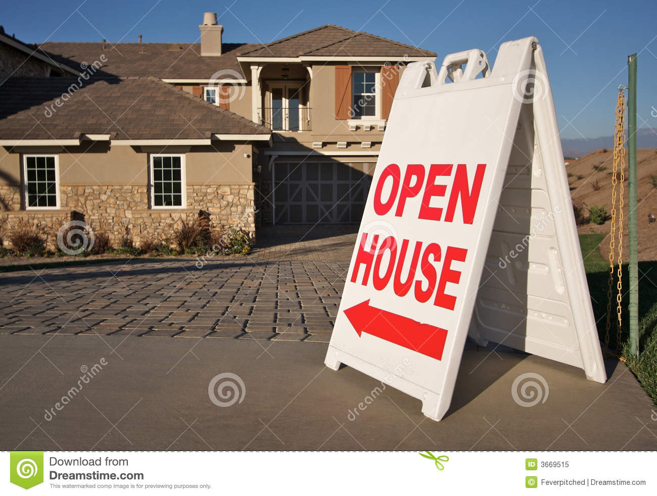 Open house sign new home royalty free stock photo for New home sign