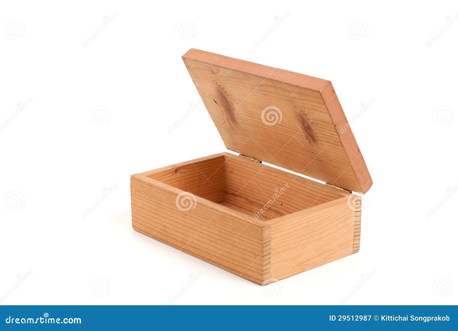 Open houten doos