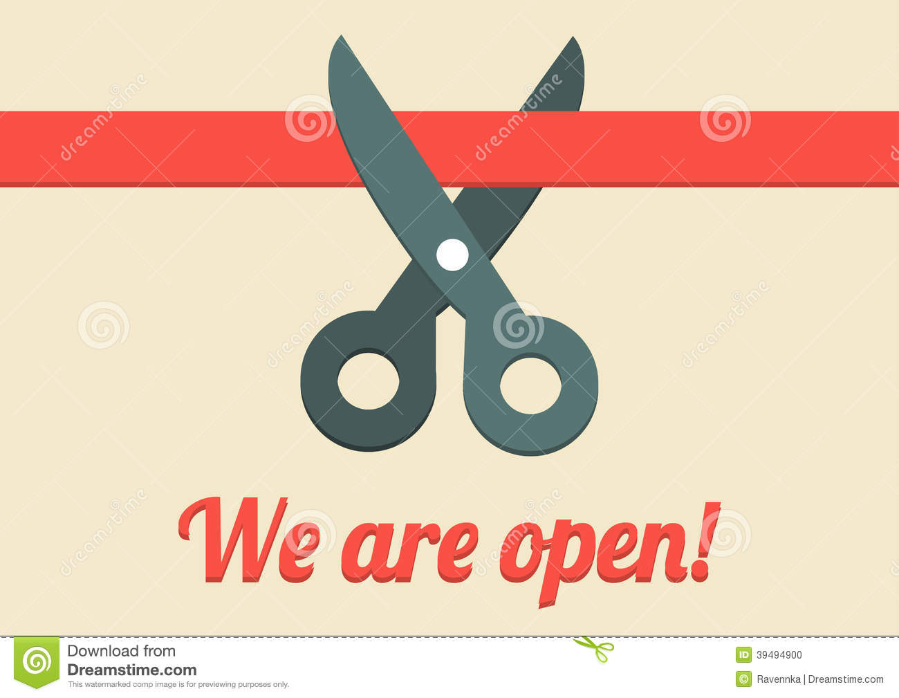 We Are Open Illustration Stock Vector Image 39494900