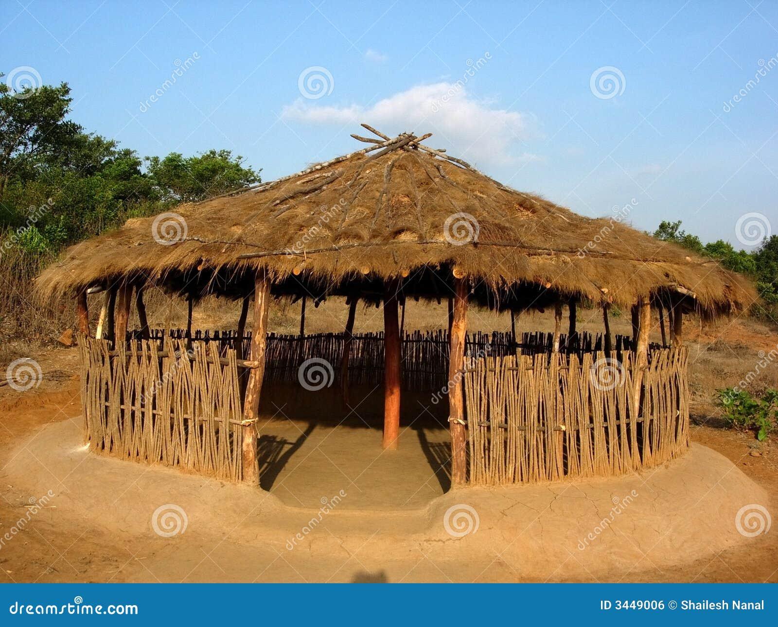 Open Indian Hut Stock Photo Image Of Objects Seasonal