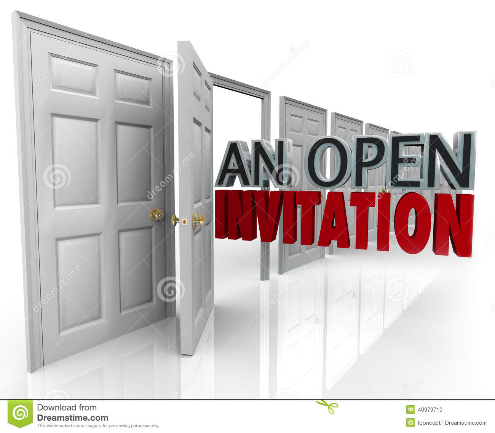 An Open Invitation Words Business Door Welcoming Customers ...