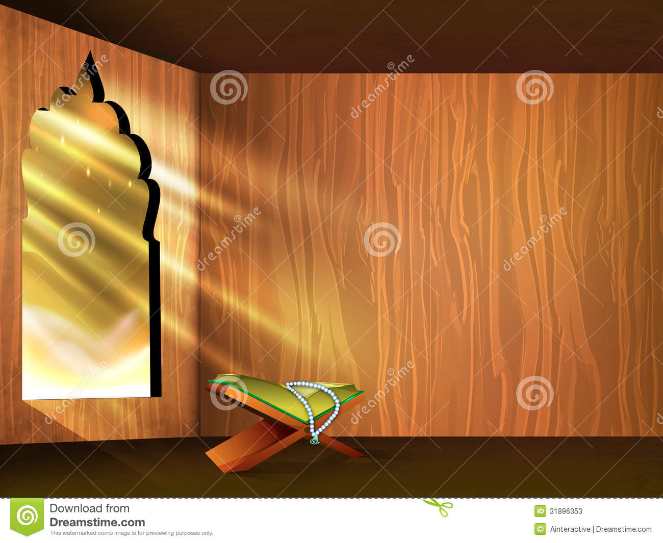 Open Islamic Religious Holy Book Quran ef Stock