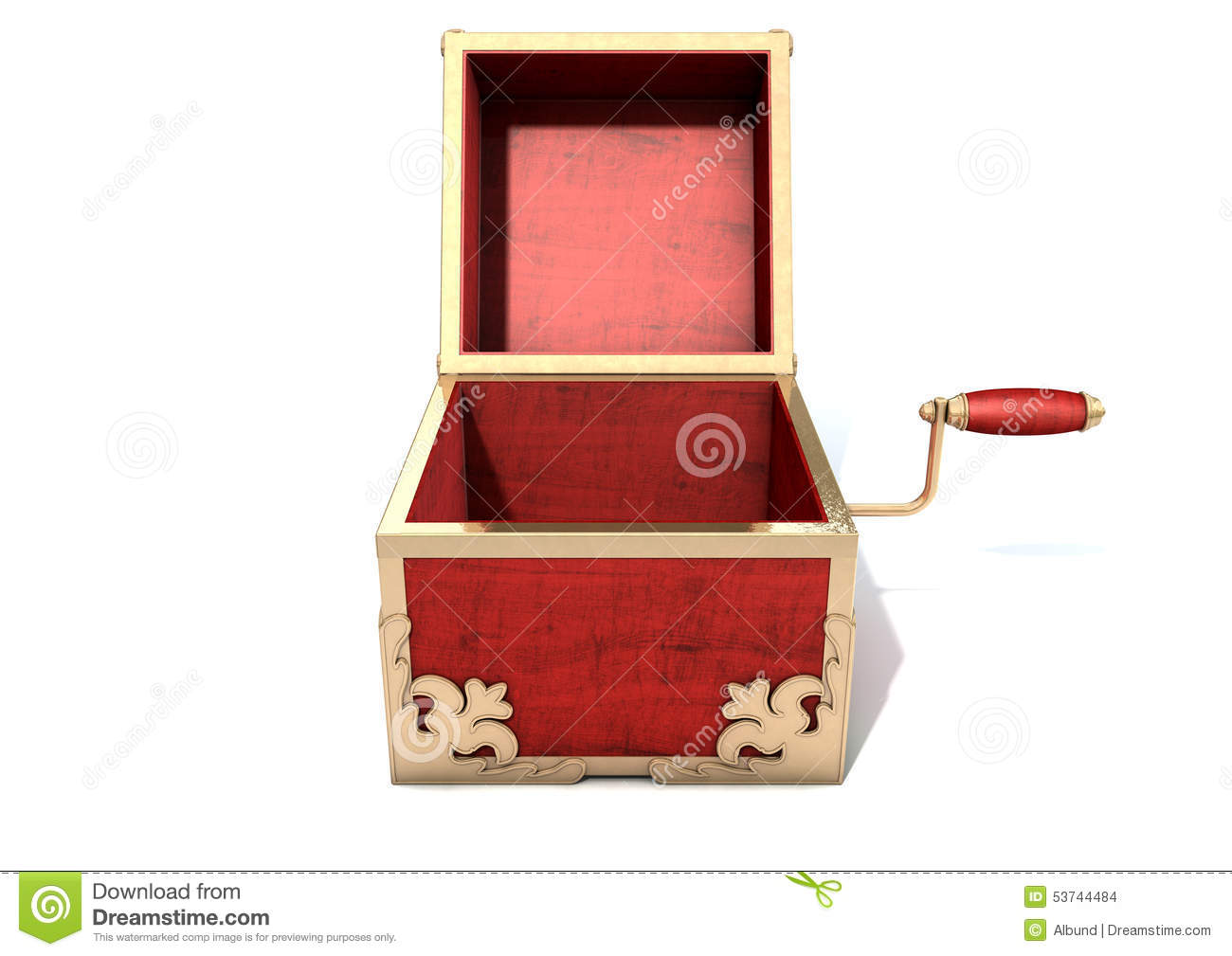 Open Jack-In-The-Box Antique Stock Illustration - Image ...