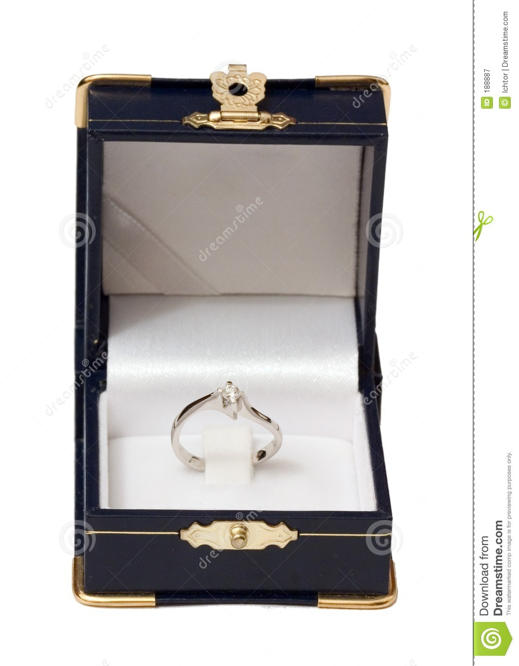 Open Jewel Case with Ring