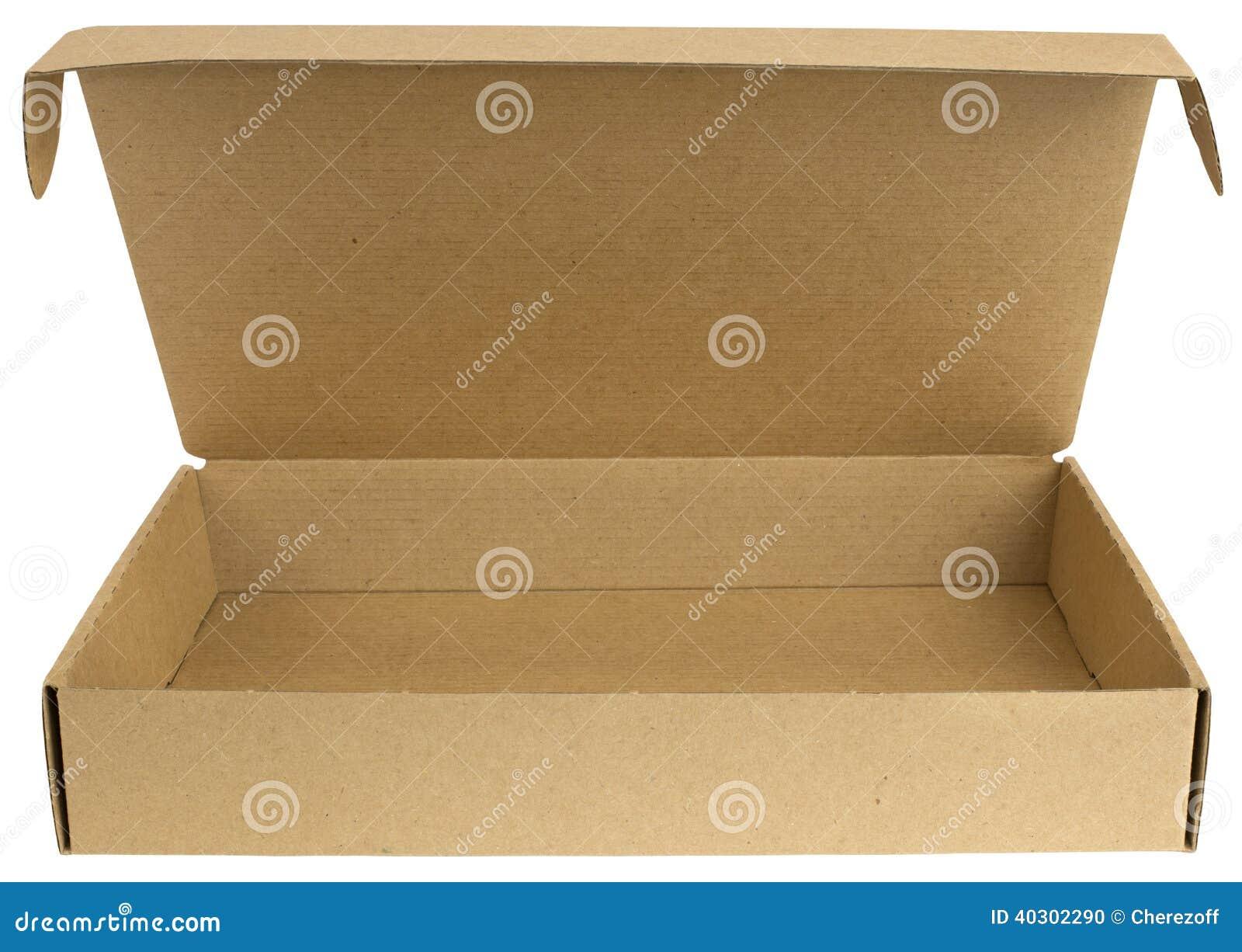 Open kartondoos met een deksel