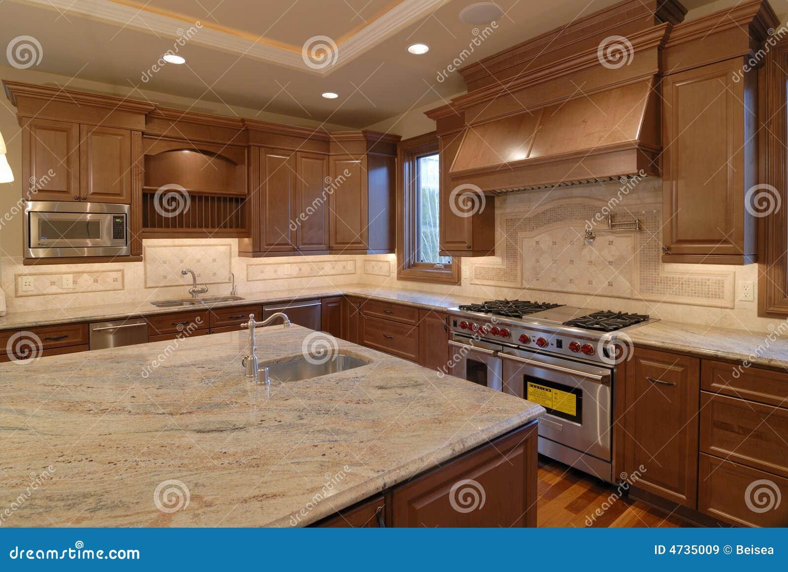 Open keuken royalty vrije stock afbeeldingen beeld 4735009 - Open keuken m ...