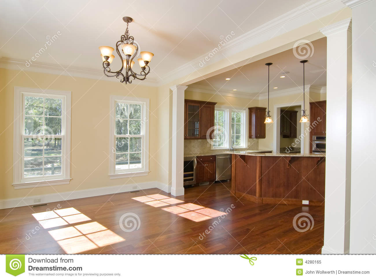 Open Kitchen Open Kitchen And Dining Area Royalty Free Stock Photo Image 4280165
