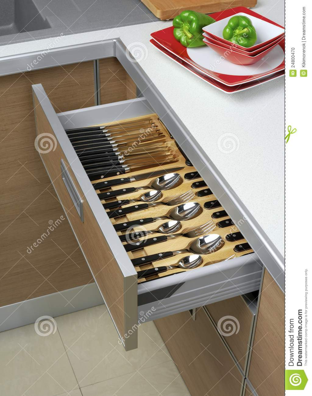 Open Kitchen Drawers Stock Photo Image Of House Wardrobe