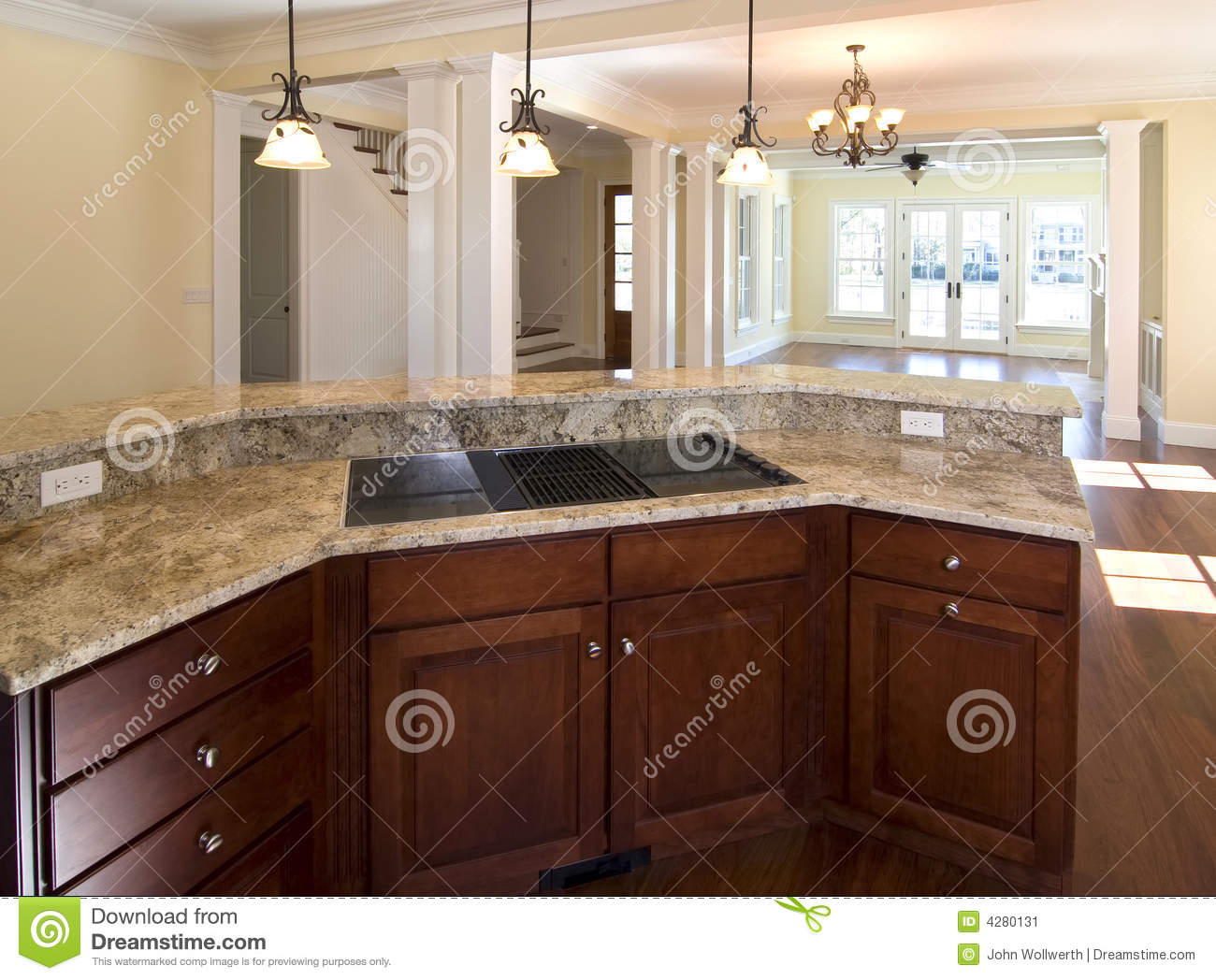 Open Kitchen Open Kitchen And Living Area Stock Image Image 4280131