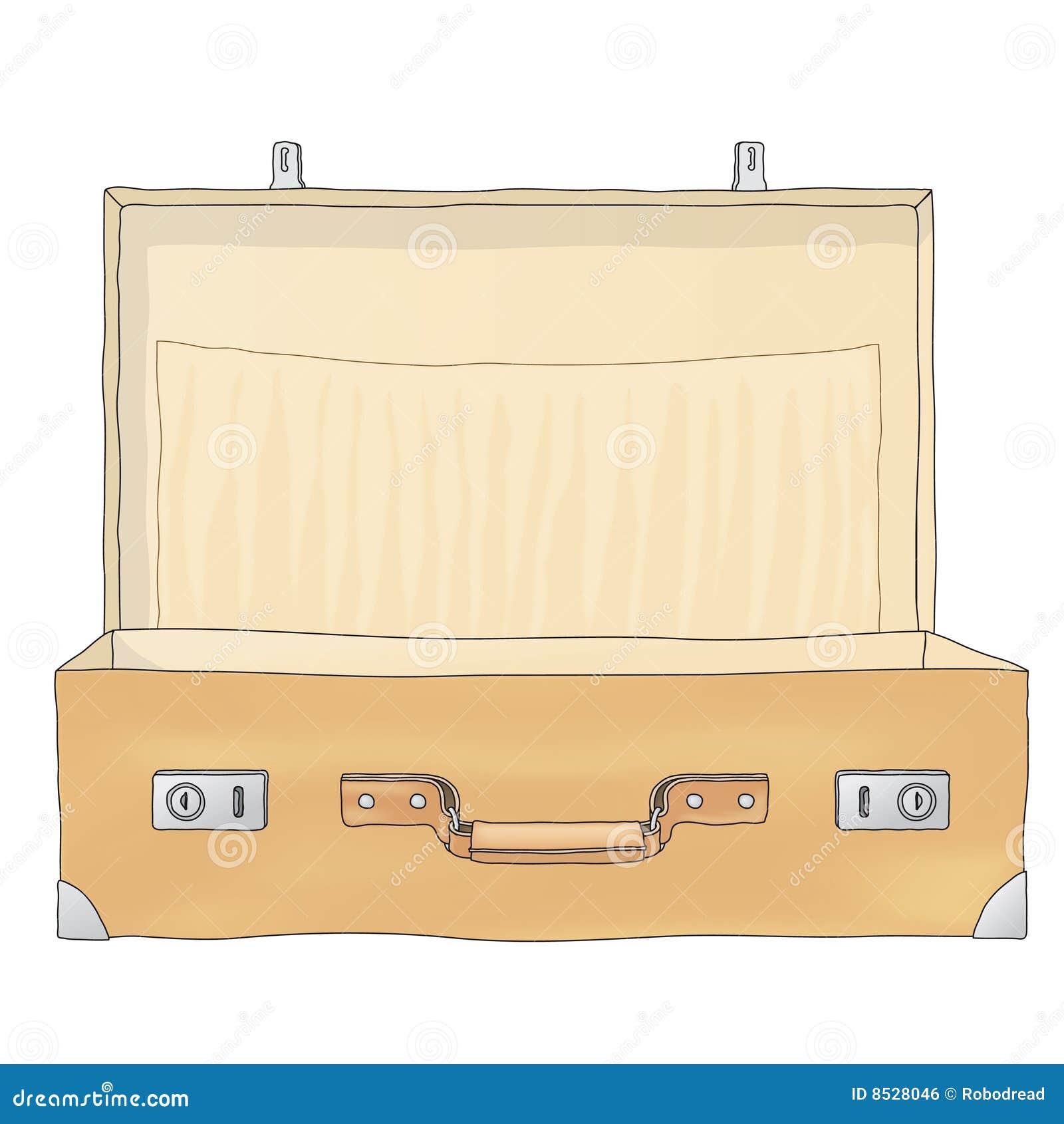 open koffer vector vector illustratie illustratie