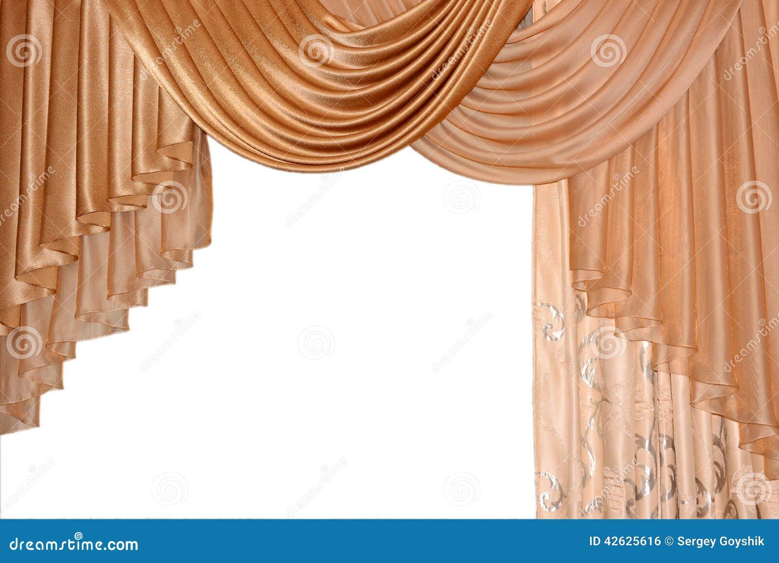 Open lambrequin portiere curtain golden color stock for Decoration fenetre post it