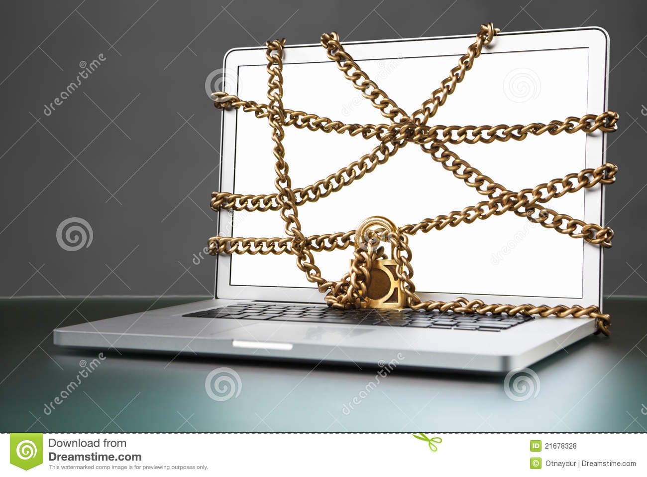 Open laptop with chain and lock royalty free stock photos image 21678328 - How to open chain lock ...