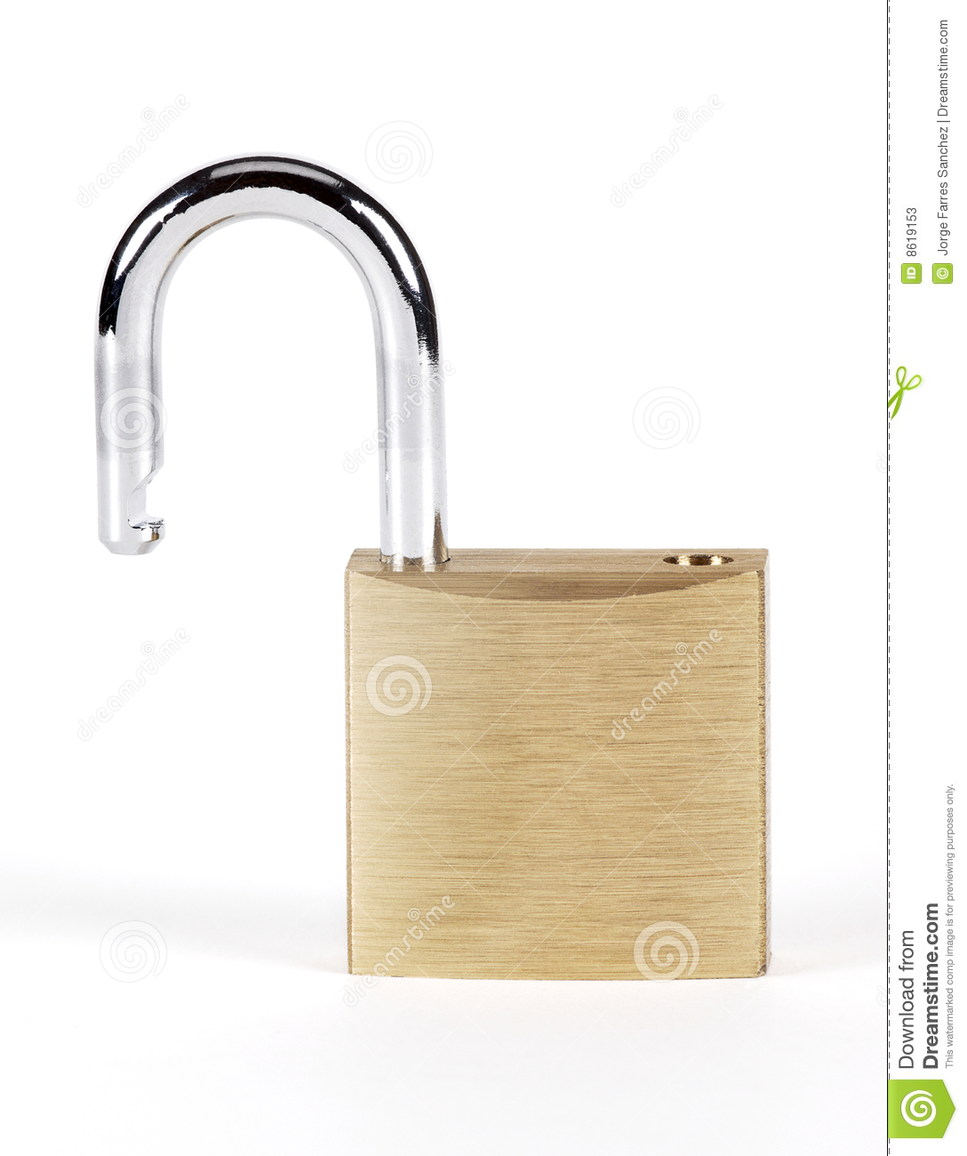 Open lock stock photos image 8619153 - How to open chain lock ...