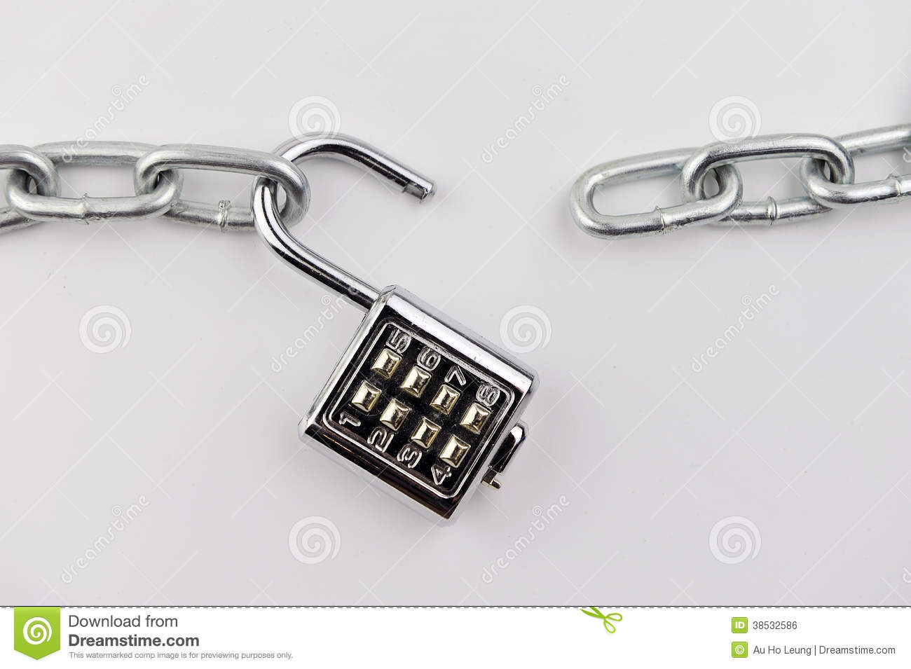 Open lock royalty free stock photo 69069453 - How to open chain lock ...