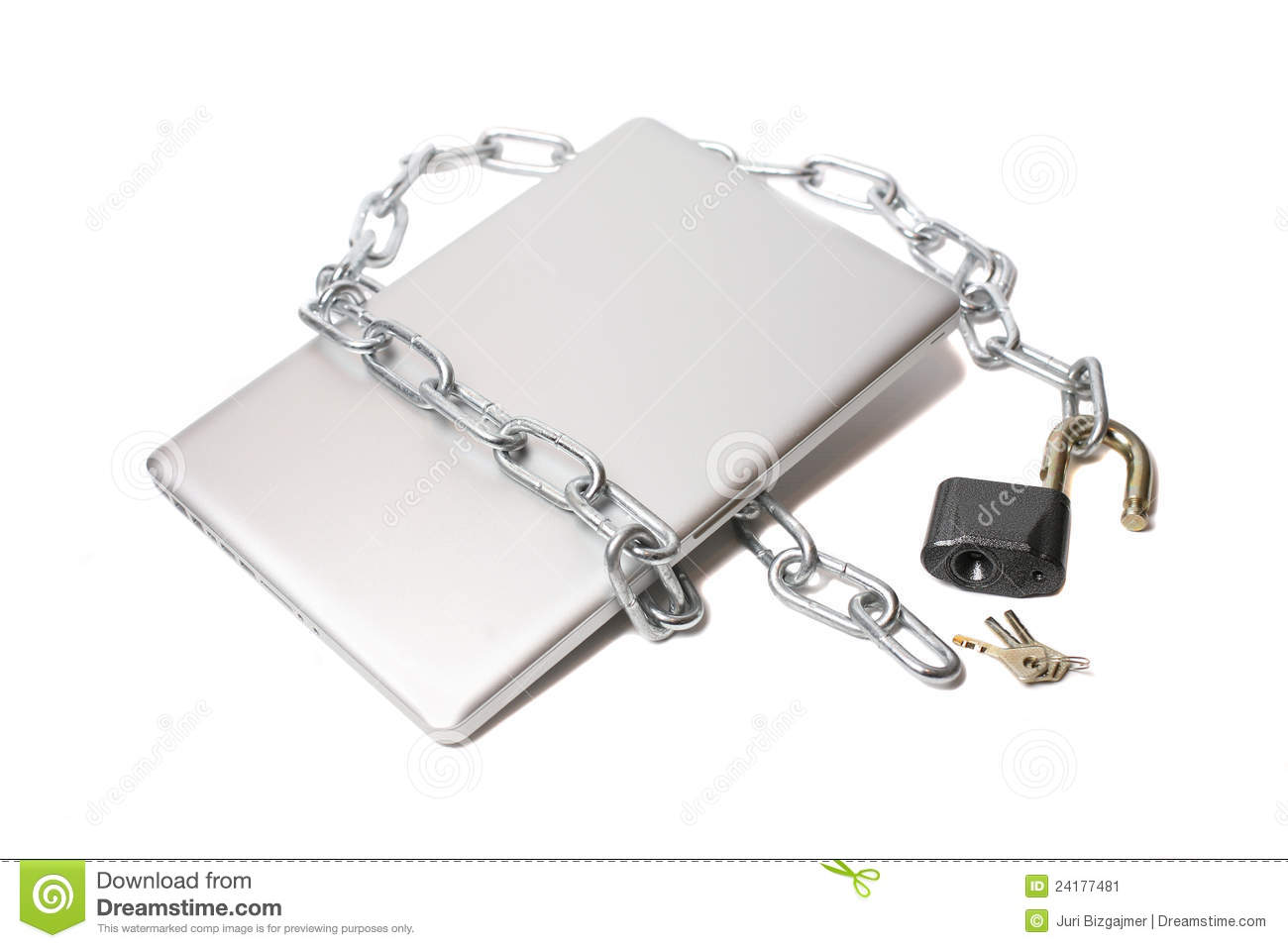 Open lock metal chain and laptop stock image image 24177481 - How to open chain lock ...