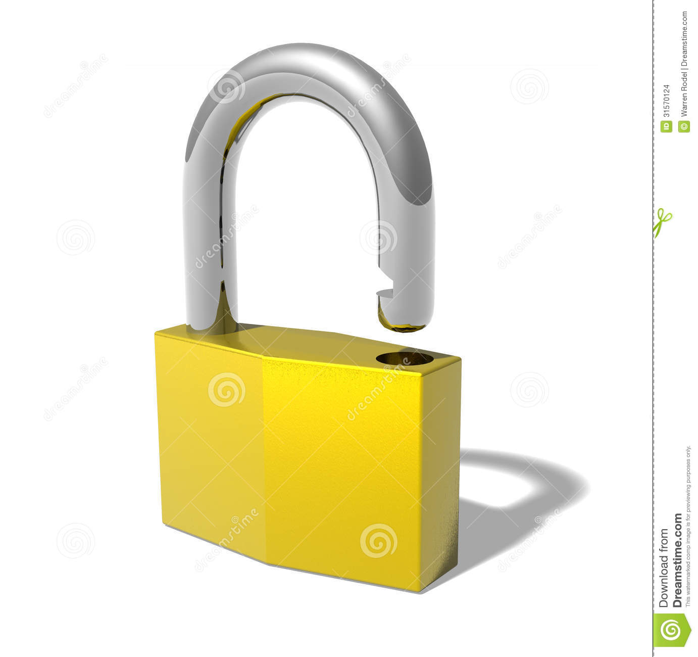 Open lock stock images image 31570124 - How to open chain lock ...