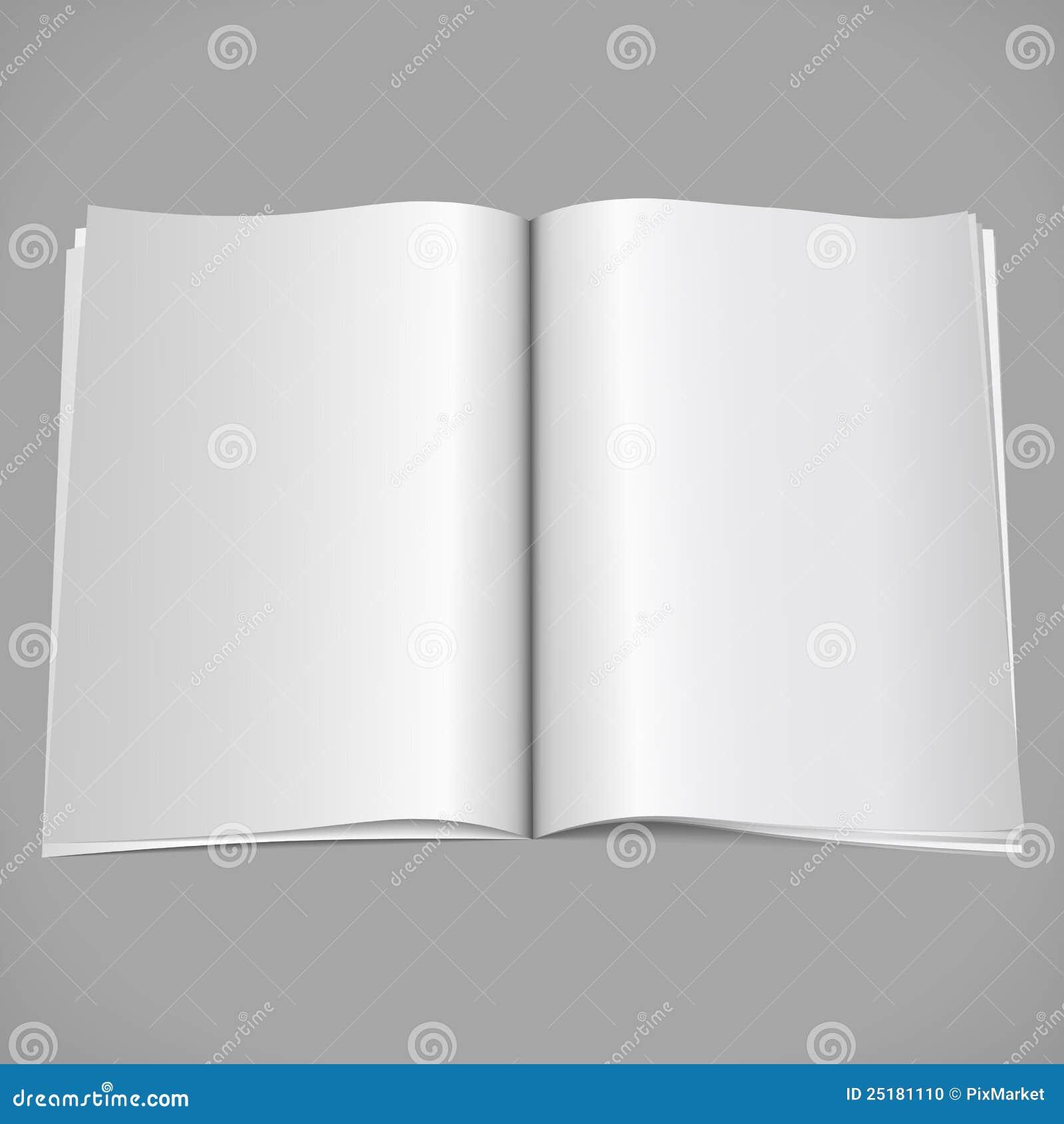 Open Magazine stock vector. Image of book, blank ...