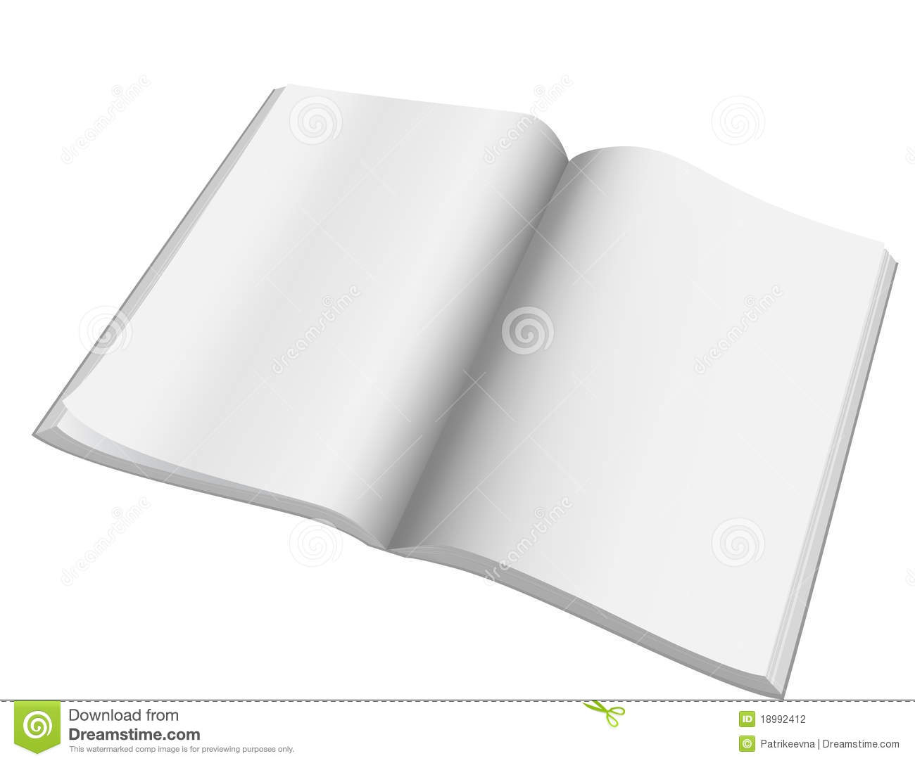 Open Magazine With Blank Pages.Vector. Stock Vector ...
