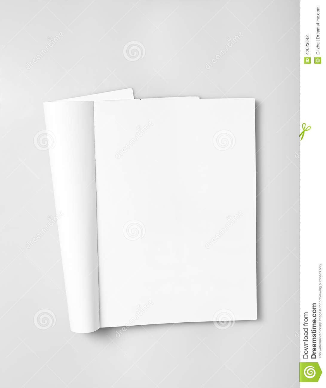 Open Magazine With Blank Pages Stock Photo Image 42023642