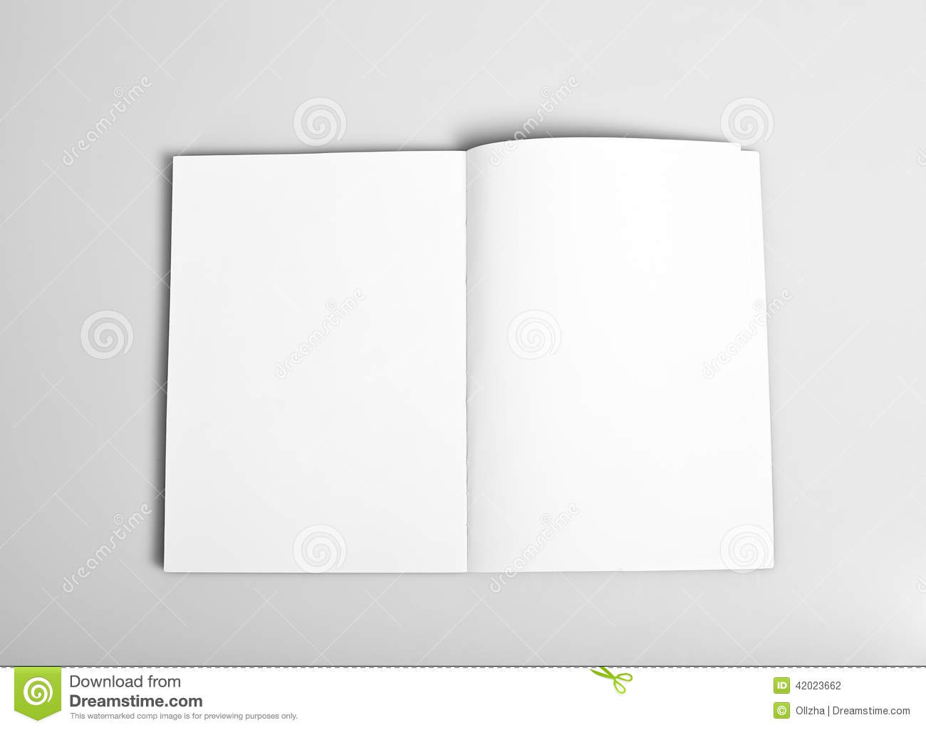 Blank pages to color on - Open Magazine With Blank Pages Stock Photography