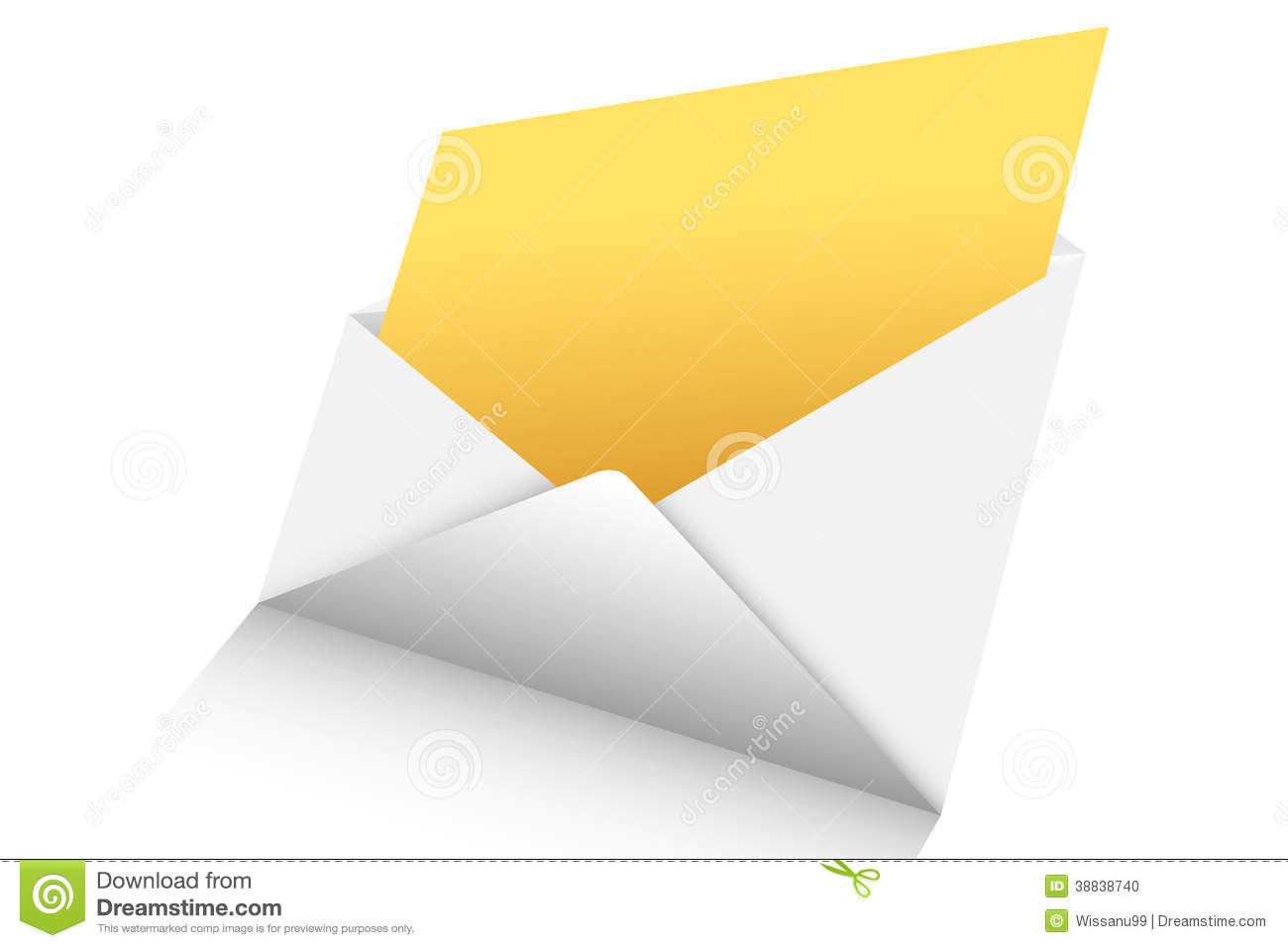 Open Mail 3d Stock Vector - Image: 38838740