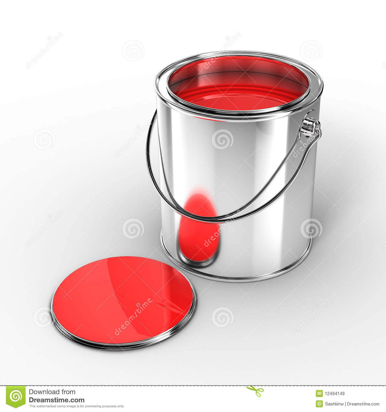 Open Metal Paint Can Royalty Free Stock Images Image