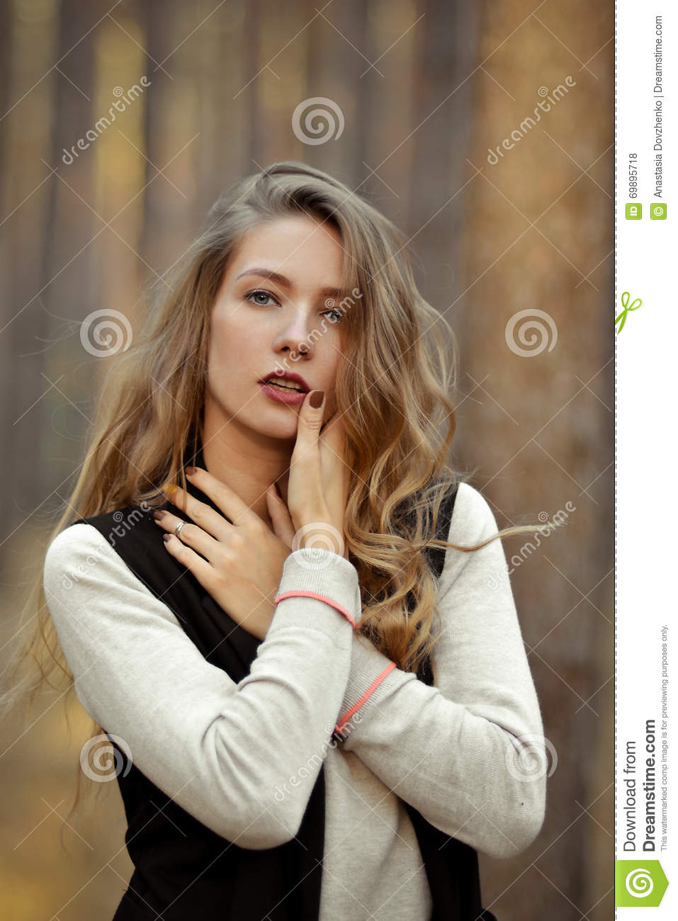 Sexual, seductive girl with open mouth,red lips, closed eyes