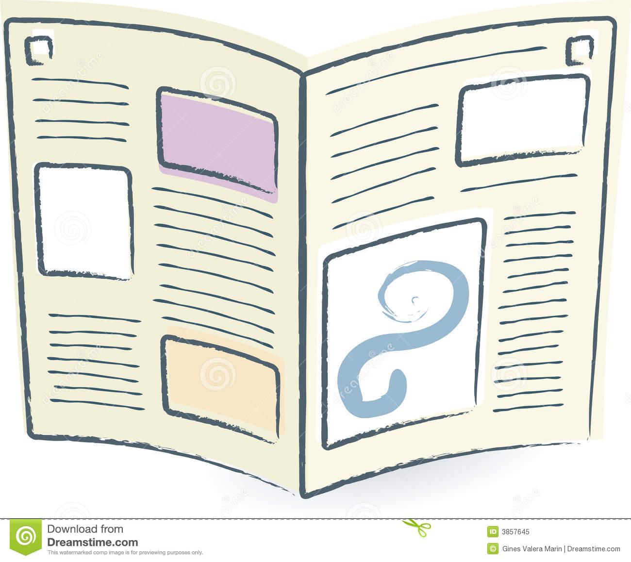 Open Newspaper (vector) Royalty Free Stock Photo - Image: 3857645
