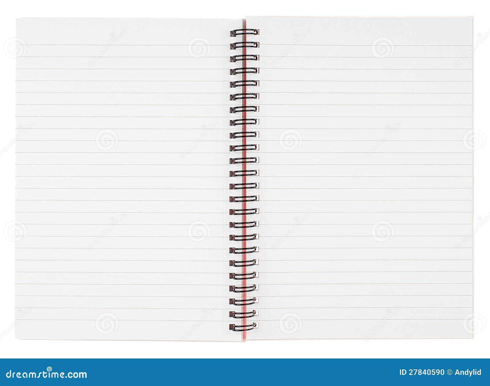 Open Spiral Notebook Open Notebook Stock Ph...