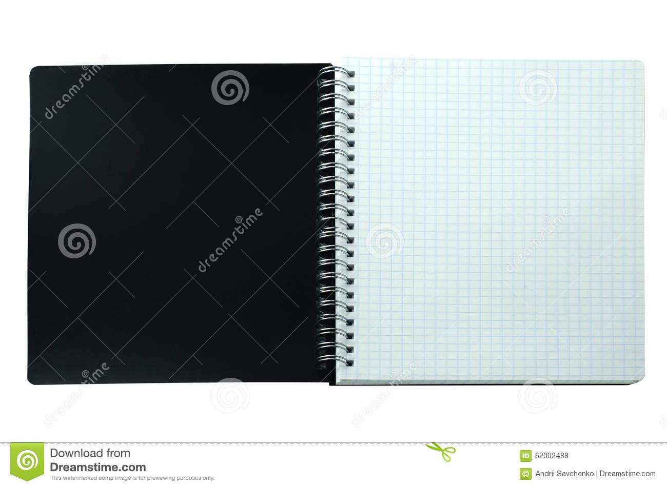 Notebook Cover Background : Open notebook with black cover stock photo image